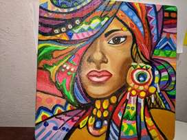 Cuadro sobre lienzo pintado al oleo - Arte Pop