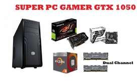 Torre Gamer Computador PC Ryzen 3 Y Tarjeta Grafica GTX 1050