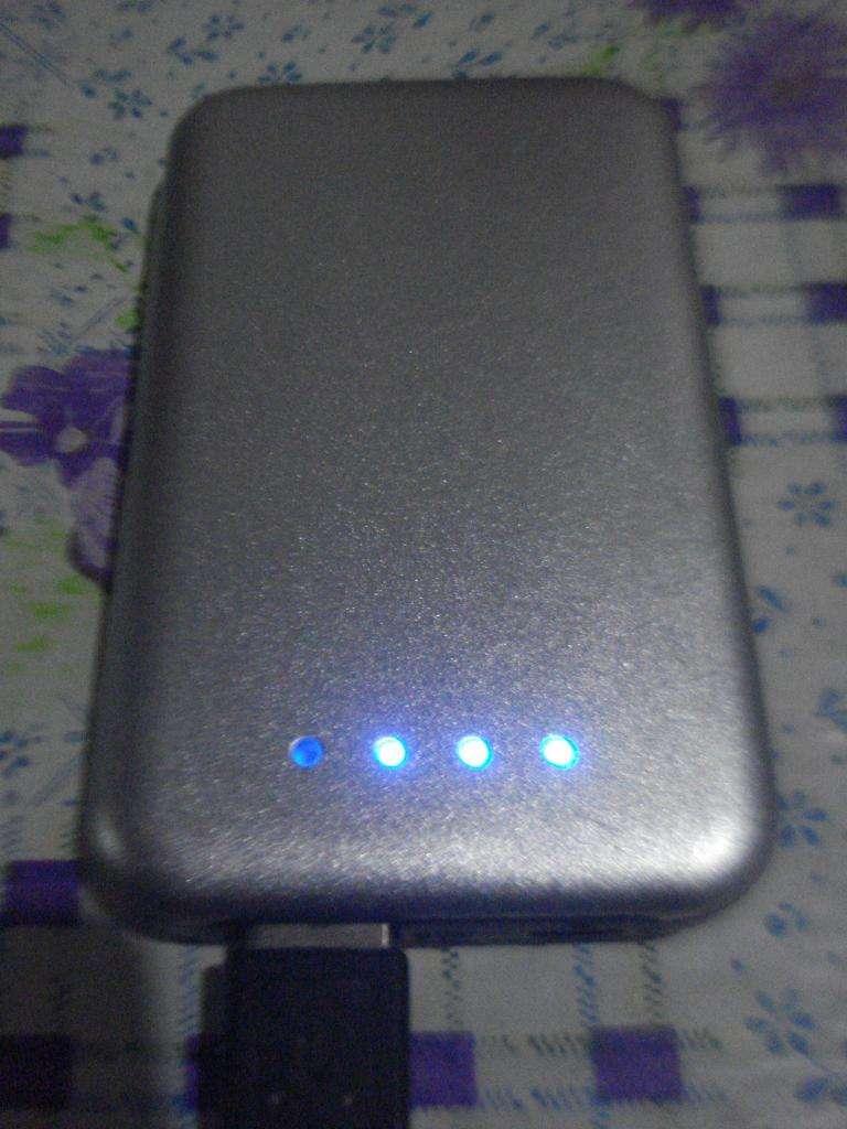 Cargador De Celular Portatil Pesadito Aluminio Excelente!! 0