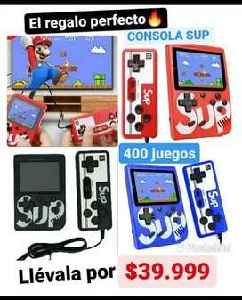 Super promoción !!Mini consola SUP x 400 juegos