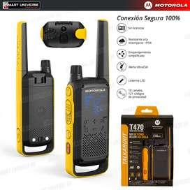 Radio Motorola T470 Walkie Talkie 56km A Prueba Agua REEMPLAZO T400