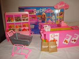 Barbie Supermarket Mattel Original Made In Hong Kong 1992