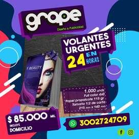 Volantes Urgentes en 24 Horas Bogota