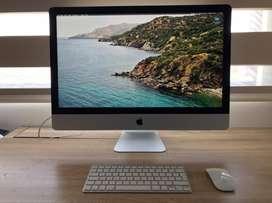 iMac 27 pulgadas + teclado y mouse originales (año 2013).