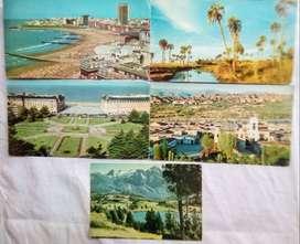 5 Tarjetas  Postales de Argentina década del 60,70,80