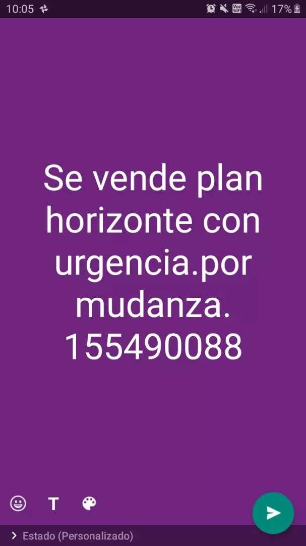 Plan horizonte 0