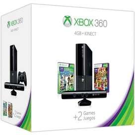 Xbox 360 Super Slim + Kinect + 3 Juegos Originales