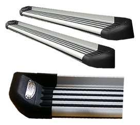 Estribo De Lujo Aluminio Punteras LED Con Bases Camioneta ¡Envío Gratis!