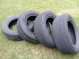 3 Cubiertas Dunlop Grand Trek PTZ 235/60/16 100H 1 Hancook Optimo K406 usadas