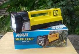 Linterna Akami multiple light, 7 funciones, sin uso.