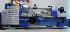 Mini Torno, Volteo 180 mm, Distancia entre puntos 350, Husillo 20 mm