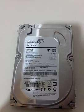 Disco duro 1tb sata 3.5 usados para pc