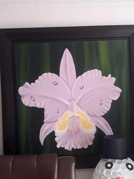 Orquídea cuadro de 1.2m *1.2m