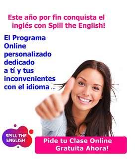CLASES DE INGLES ONLINE:  LLEGA  POR FIN A LA FLUIDEZ CON SPILL THE ENGLISH