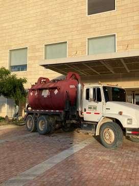 Vactor camion de succion de lodos