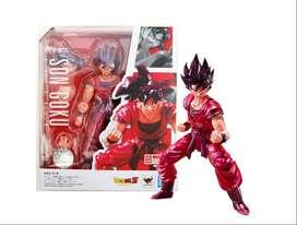 Figura Muñeco Goku Kaio Ken Bandai Anime Dragon Ball