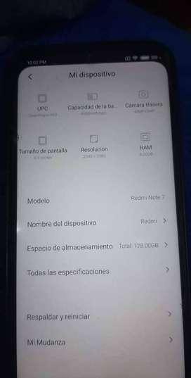 Vendó Xiaomi redmi note 7 de 128 gb color Negro
