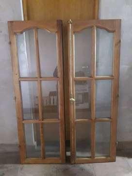 ventana de cedro