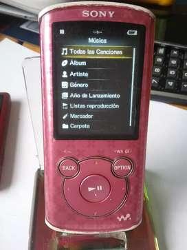 Reproductor Sony MP3 radio música video con su cable cargador buen estado 4 Gb de memoria interna