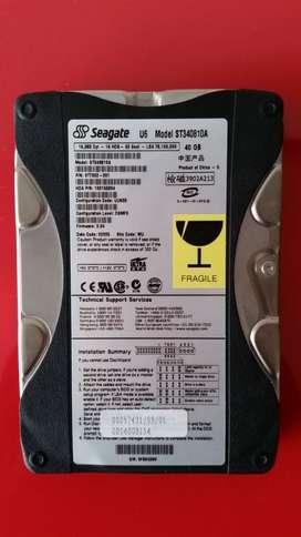 Disco Duro de 40GB Marca Seagate