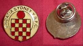 SYDNEY CROATIA SFC RARO PIN FUTBOL AUSTRALIA 1980s . ACTUAL SYDNEY UNITED 58 FC