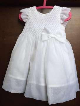 Vestido Blanco Bautizo Niña
