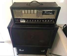 Cabezal Vintage Electric Nu Twin 100w Y Caja Pirate Black 2x12