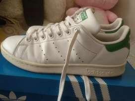 zapatillas Adidas originales Stan Smith clásicas blancas