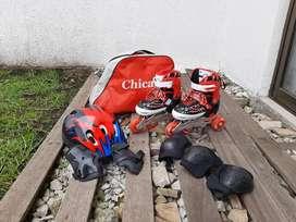 Patines Chicago con Casco Iniciación (30-33) Kit