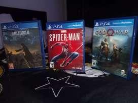Cambio juegos de PS4 o vendo