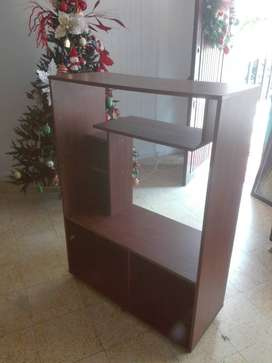 Mueble modular biblioteca repisa madera televisor escritorio