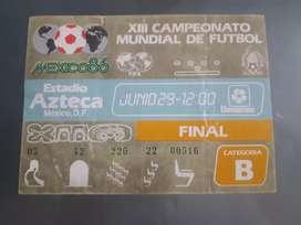 Entrada a la Final del Mundial de México 1986.