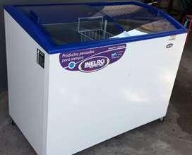 Freezer horizontal exhibidor Inelro fhi.350 PI, helados