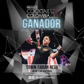 SHOW BARMAN CON ESTILO FLAIR COCTELERIA COLOMBIA EVENTOS