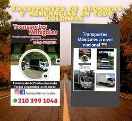 Transportes de mudanzas y mercancías en todo colombia