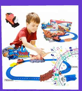 Dinosaurio tren pista  juguete didáctico sonidos