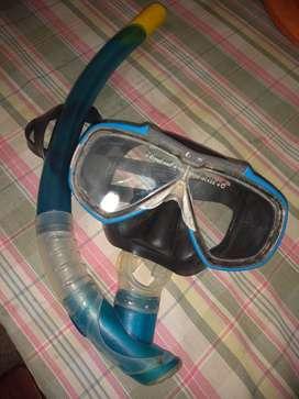 Mascara de buceo Cressi y snorkel