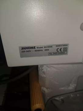 Bordadora Computarizada Janome Mc500e de última generación
