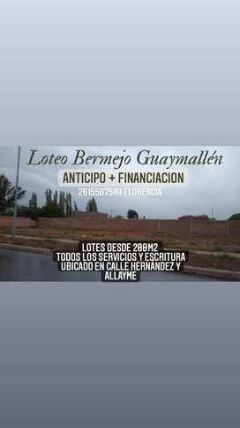 Loteo público y privado bermejo Guaymallén