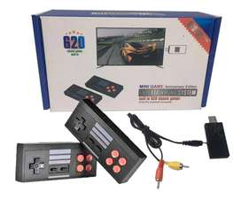 Mini Consola Retro Clásica 620 Juego Controles Inalambrico