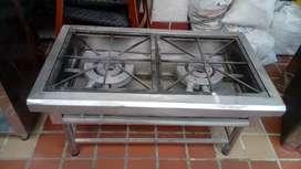 Vendo estufa a gas dos puestos