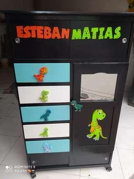 Mickey mouse dinosaurios animados para niños Armarioo personalizado para los niños y niñas