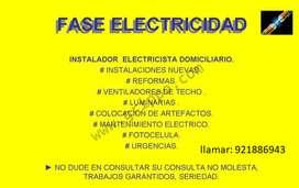 se brinda servicio de electricista y gasfiteria