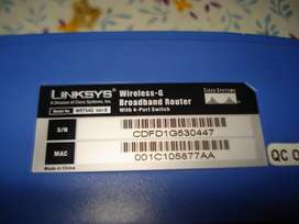 Router Linksys Inhalambrico Wrt54g V6 Con transformador impecable FUNC