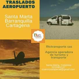 Traslados al aeropuerto de santa marta