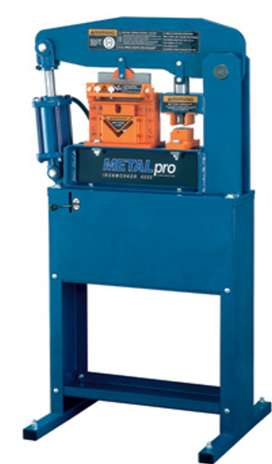 PRENSA HIDRÁULICA DE 40 TONELADAS. METALpro Ironworker — 40-Ton, Foot Switch Control, Model# MP4000FS