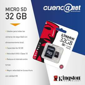 MICRO SD 32GB CLASE 10 45MB/s KINGSTON