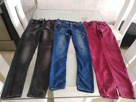 Jeans hombre talla 14-16 buen estado azul gris  y vino tinto