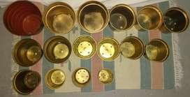 16 Materas doradas en plástico en distintos tamaños su jardín o invernadero o ambientar cualquier rincón