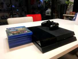 Play Station 4 500 Gb + 5 Juegos + 1 Joystick